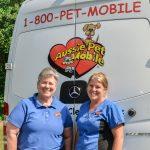 Groomers Behind Aussie Pet Mobile Van